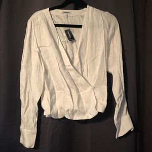 Express white top never worn